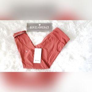Lululemon Time to Sweat Brick Rose tight size 8